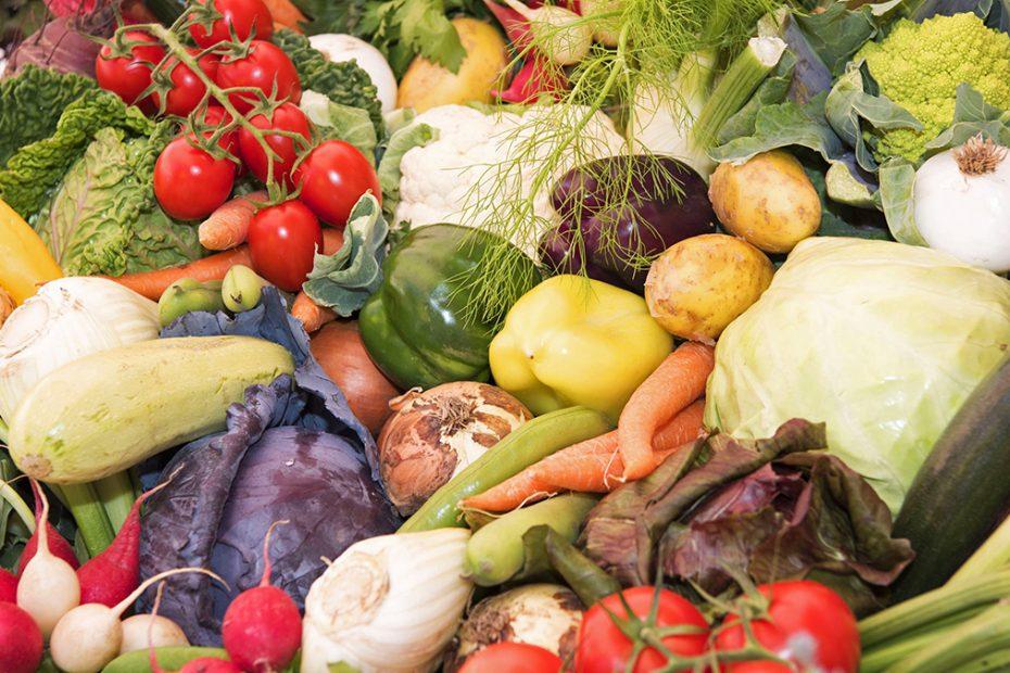 Gemüse auf der Bauernmarktmeile in Nürnberg