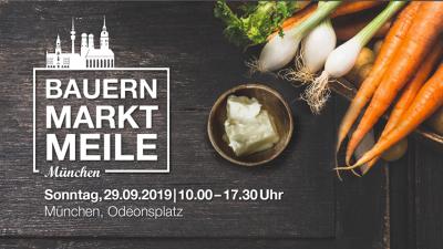 Ankündigung der Bauernmarktmeile in München