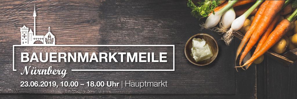 Titel für die Bauernmarktmeile in Nürnberg