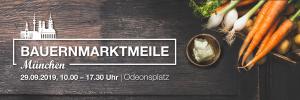 Die Bauernmarktmeile in München findet am 29. September am Odeonsplatz statt
